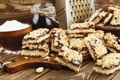 Cookies caseiros com doce do fruto Foto de Stock