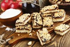 Cookies caseiros com doce do fruto Fotos de Stock Royalty Free