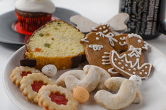 Cookies caseiros com queque Foto de Stock Royalty Free