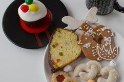 Cookies caseiros com queque Imagem de Stock Royalty Free