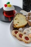 Cookies caseiros com queque Fotos de Stock