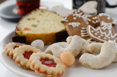 Cookies caseiros com queque Fotografia de Stock Royalty Free