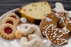 Cookies caseiros com queque Imagens de Stock Royalty Free