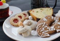 Cookies caseiros com queque Imagem de Stock