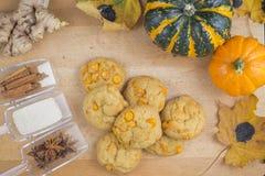 Cookies caseiros da abóbora da especiaria Imagem de Stock