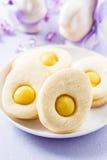 Cookies caseiros de easter e coelhinho da Páscoa engraçado Fotos de Stock Royalty Free