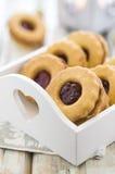 Cookies caseiros de Linzer Foto de Stock Royalty Free