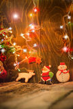Cookies caseiros do Natal no fundo de madeira rústico Fotos de Stock