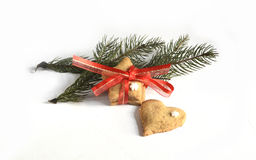 Cookies caseiros do pão-de-espécie do Natal tabela no 17 de novembro de 2014 Fotos de Stock