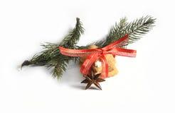 Cookies caseiros do pão-de-espécie do Natal tabela no 17 de novembro de 2014 Imagem de Stock