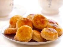 Cookies caseiros do queijo Fotografia de Stock Royalty Free