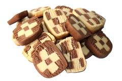 Cookies caseiros isoladas no branco Foto de Stock Royalty Free