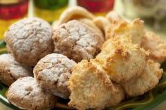 Cookies caseiros marroquinas Fotografia de Stock