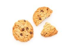 Cookies caseiros no fundo branco Fotografia de Stock Royalty Free