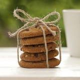 Cookies caseiros no jardim Foto de Stock Royalty Free
