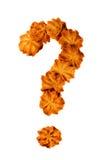 Cookies caseiros pequenas sob a forma de um ponto de interrogação imagem de stock royalty free