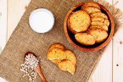 Cookies Cereal with Milk Royalty Free Stock Photography