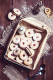 Cookies with cherry filling in the box Royalty Free Stock Photo