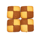 Cookies chess. On a white background royalty free stock photo