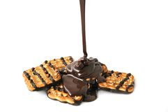 Cookies and chocolate Royalty Free Stock Images