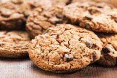 Cookies with chocolate Royalty Free Stock Photos