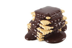 Cookies with chocolate Royalty Free Stock Photography