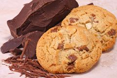 Cookies and chocolate stock photo