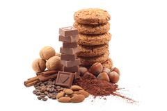 Cookies and chocolate Stock Images