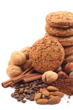 Cookies and chocolate Royalty Free Stock Image