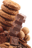 Cookies and chocolate Stock Image