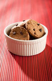 Cookies with chocolate chip Royalty Free Stock Images
