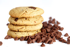 Cookies with chocolate chips Stock Photos
