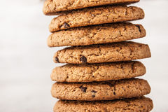 Cookies with chocolate chips  horizontal Royalty Free Stock Photos