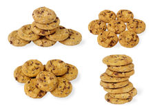 Cookies with chocolate chips set Stock Images