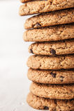Cookies with chocolate chips  vertical Royalty Free Stock Photo
