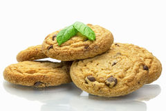 Cookies with chocolate chips Royalty Free Stock Photography