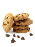 Cookies with chocolate chunks Royalty Free Stock Images