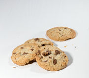 Cookies with chocolate chunks Royalty Free Stock Photos