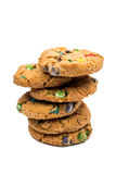 Cookies with chocolate colored drops Royalty Free Stock Photo