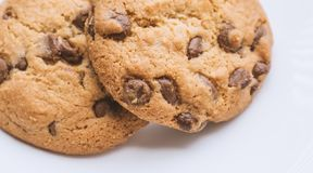 Cookies with chocolate. Royalty Free Stock Photography