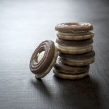 Cookies with chocolate cream Royalty Free Stock Photography