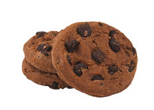 Cookies with chocolate drops Royalty Free Stock Image