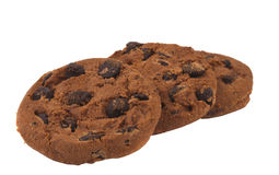 Cookies with chocolate drops Royalty Free Stock Images