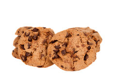 Cookies with chocolate drops isolated Royalty Free Stock Image