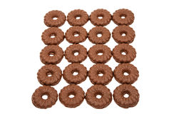Cookies with chocolate glaze Royalty Free Stock Photos