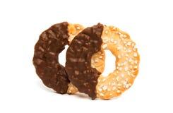 cookies with chocolate glaze Stock Image