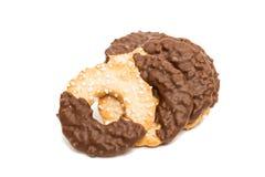 cookies with chocolate glaze Stock Photo