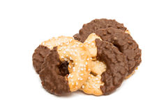 cookies with chocolate glaze Stock Photos