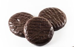 Cookies in chocolate glaze Stock Images