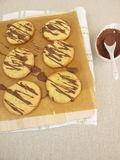 Cookies with chocolate Royalty Free Stock Images